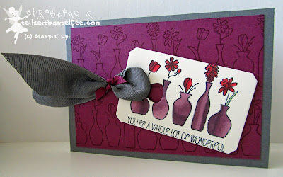 stampin up, vivid vases, chalk talk, blendabilities, mix marker
