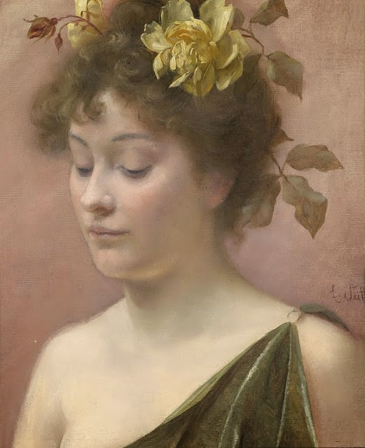 Eduard Veith - Portrait of a Young Lady