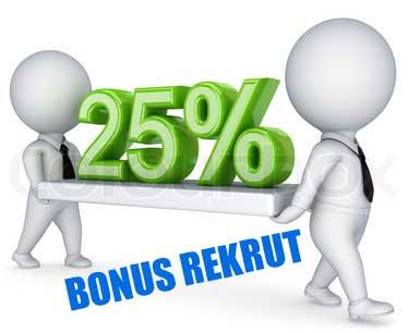 Keuntungan Distributor 25% Bonus Rekrut