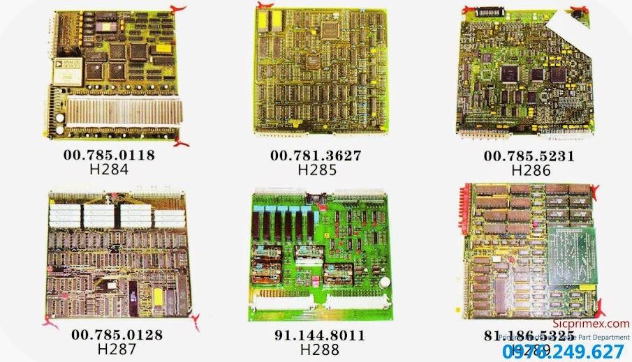 Bán buôn bán lẻ mạch điều khiển máy ngành in chính hãng H284-289