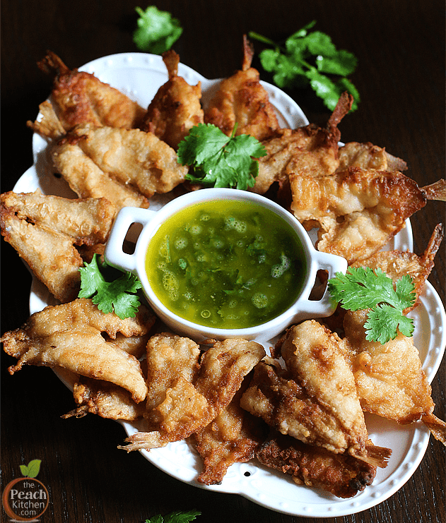 Crispy Boneless Asuhos with Cilantro Butter Sauce
