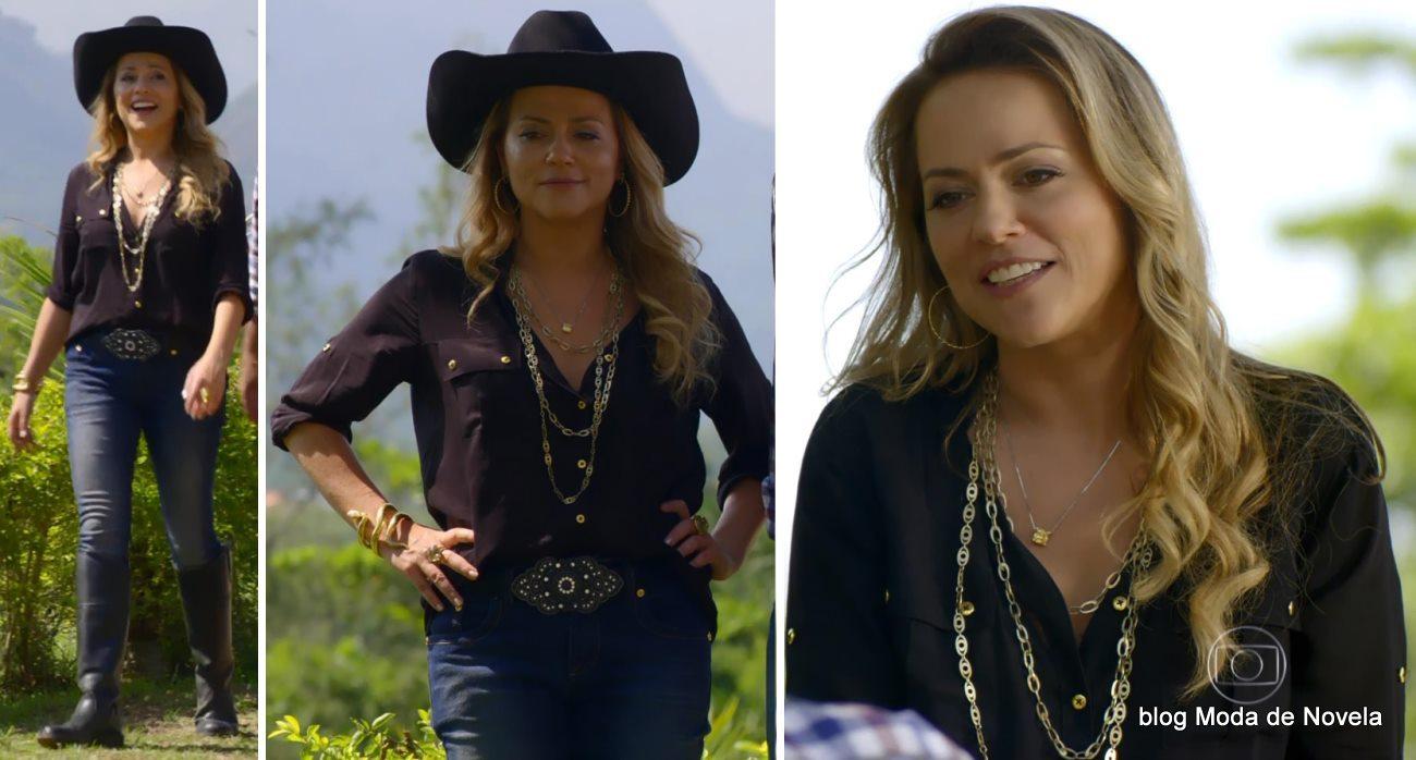 moda da novela Em Família - look da Shirley dia 21 de abril