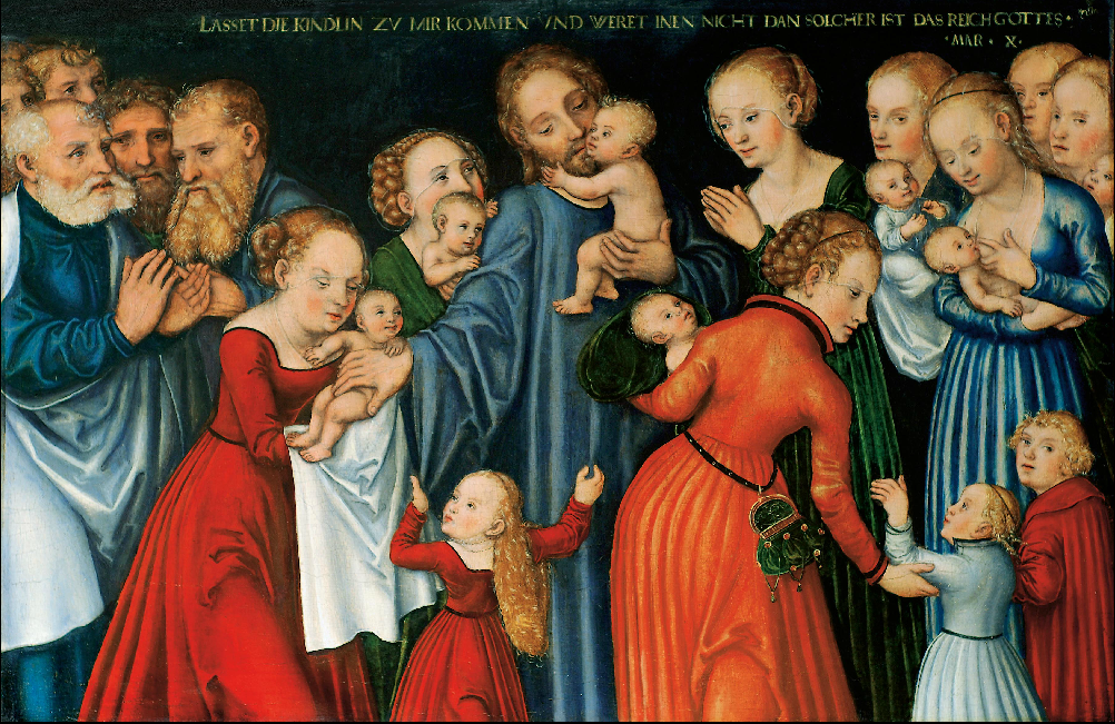 Lucas Cranach the Elder - Christ blessing the Children