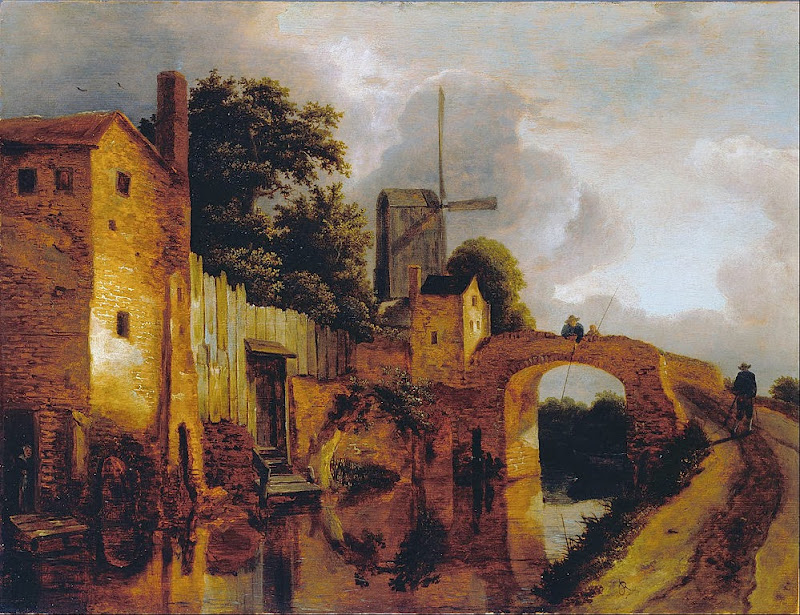 Jacob van Ruisdael - Canal with Bridge - Google Art Project