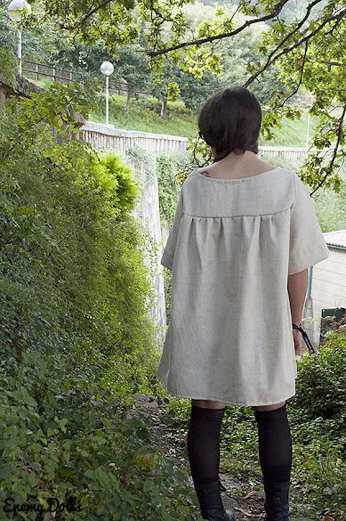 vestido japones lino