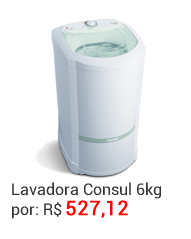 Lavadora Jasmin Consul 6kg Black Friday