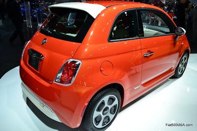 Fiat 500e rear quarter