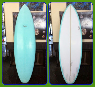 here is a custom shortboard for all types of waves with a five fin set up for the many options