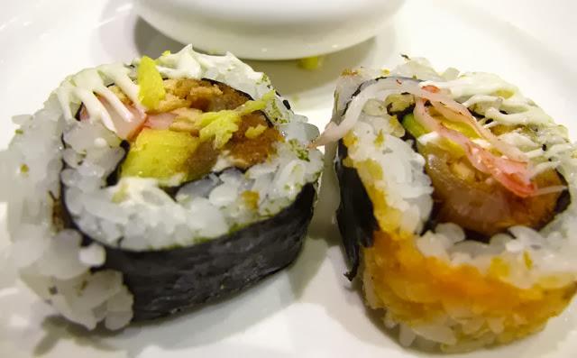 花壽司有多種口味-上閤屋台中復興店