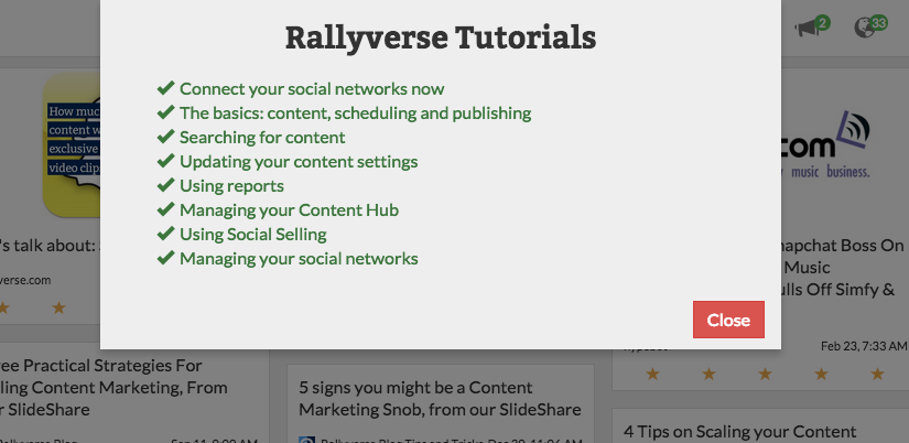 Rallyverse Tutorials feature GIFs