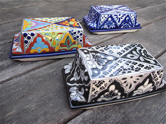 Talavera Vazquez butter dishes