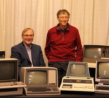Bill Gates and Paul Allen in 2013