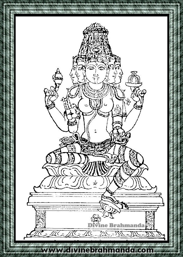 Soundarya Lahari Sloka, Yantra & Goddess For Protection From Unnatural Death - 28