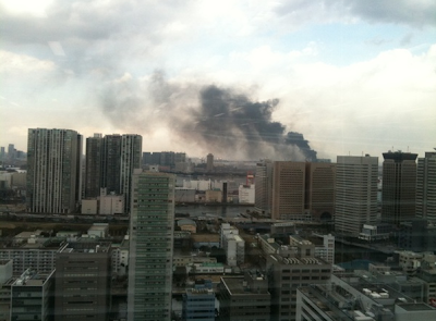 японские дома в огне