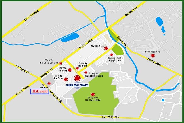 Vị trí chung cư The K Park Văn Phú