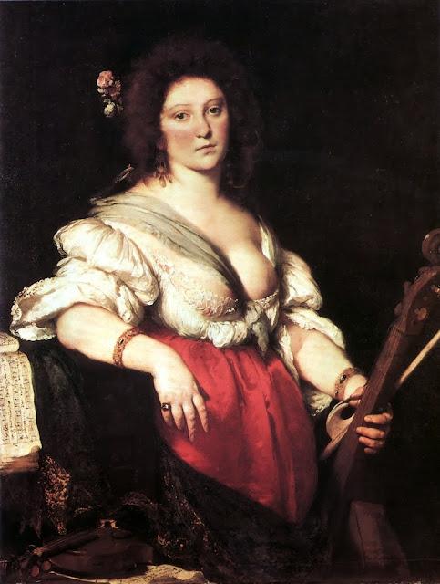 Bernardo Strozzi - The Viola da Gamba Player