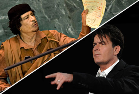 Charlie Sheen And Muammar Gaddafi Quotes Charlie Sheen Amp Muammar