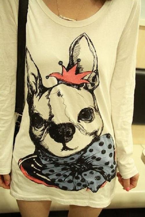 Inspiração cachorros - camiseta manga longa
