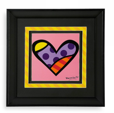 Romero Britto Framed Heart Print – the prize for the My Heart-Shaped World's September 2012 Heart-spotting Contest