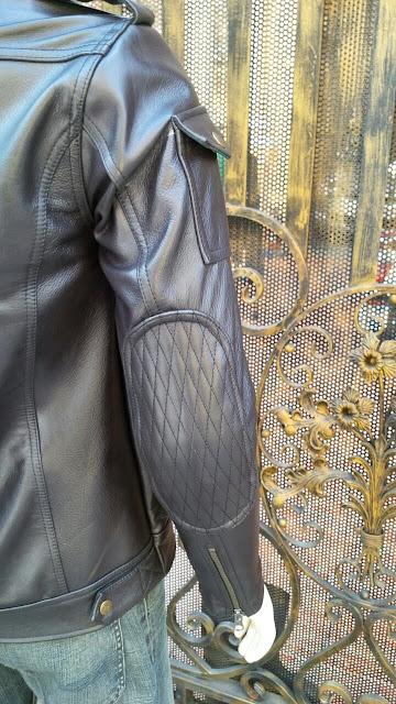 áo khoác da nam thật màu đen