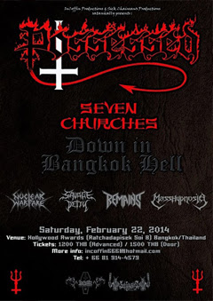 "POSSESSED ""Seven Churches Down In Bangkok Hell"""