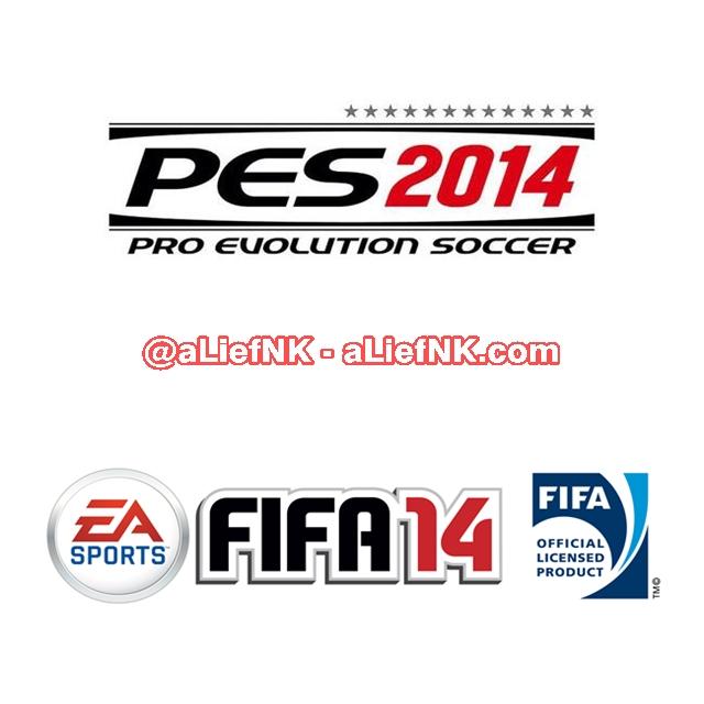 Logo PES 2014 / FIFA 14 [image by @aLiefNK]
