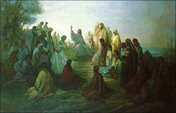 Jesus Preaching on the Mount of Olives, by Gustave Doré (1832-1883)