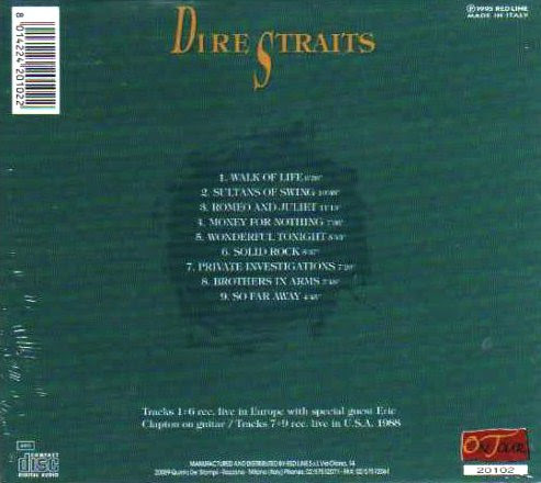 Dire straits ft eric clapton 39 the greatest hits concert for Biggest songs of 1988