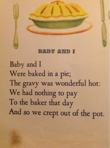 baby and i were baked in a pie nursery rhyme