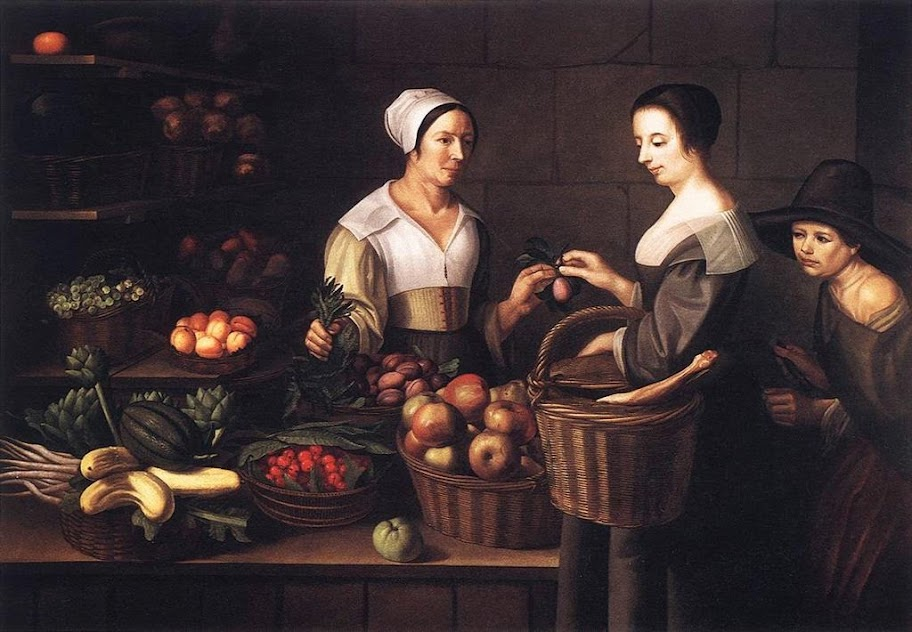 Louise Moillon - Market Scene with a Pick-pocket