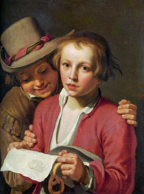 Abraham Bloemaert - Two Boys Singing from Sheet of Paper.