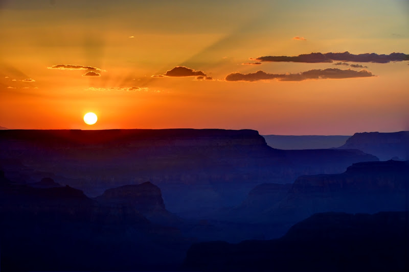 Sunset Yavapai Point, Grand Canyon National Park, Arizona