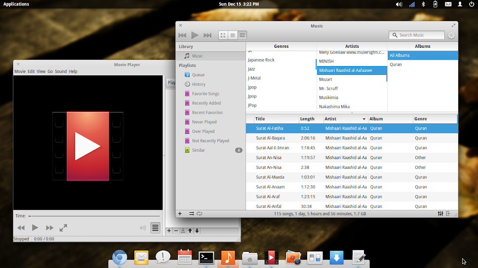 noise dan totem audio dan video player elementary os