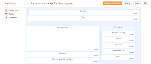 Mise en page du blog sur Blogger
