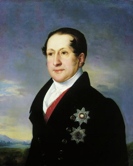 Vasily Tropinin - Portrait of Prince Golitsyn