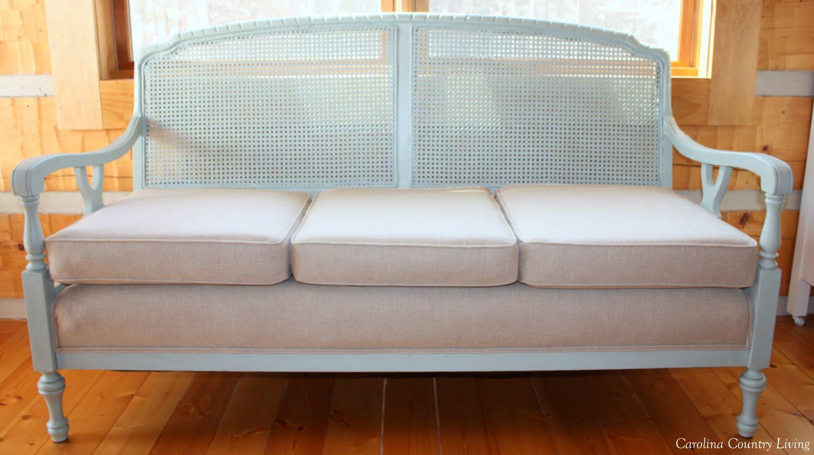 carolina country living cane back sofa before and after Cane Back Furniture Barrel Back Sofa
