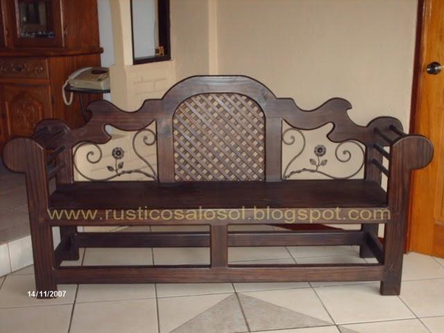Muebles r sticos alosol madera muebles y l mparas for Muebles rusticos de madera
