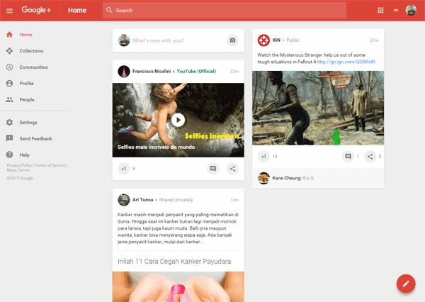 Tampilan Baru Google+