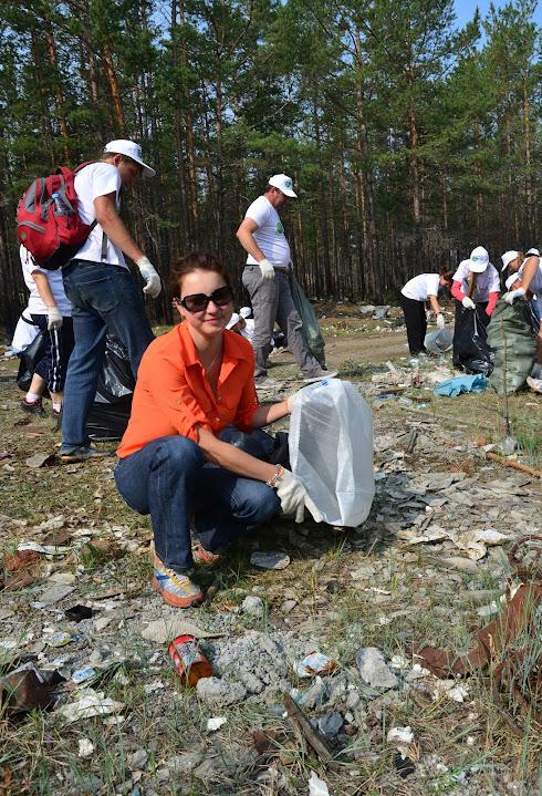 Уборка на байкальском острове Ольхон