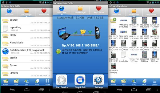 Software Data Cable – Transferir datos, sin cables entre tu Android y tu PC