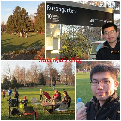 悠閒的玫瑰公園午後。