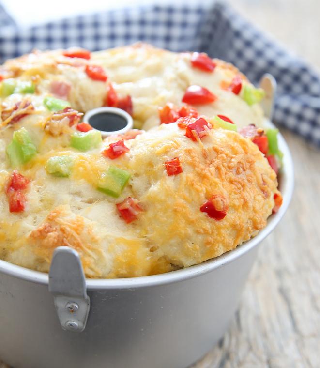photo of Breakfast Pull Apart Bread in a baking pan