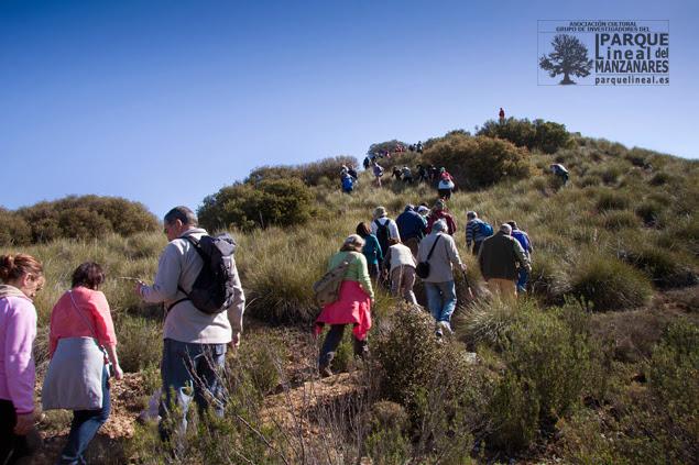 Ascenso de la excursión a la Colina Cónica