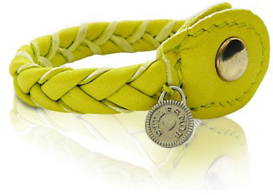 GlamYou Shop - #1 Glamorous WebShop | Mini kingo woven leather bracelet in  lime color from STYLESNOB