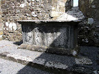 Altar in St. Mary's Church, Inis Cealtra, County Clare.jpg