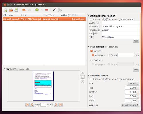 Gtumbler su Ubuntu 12.04