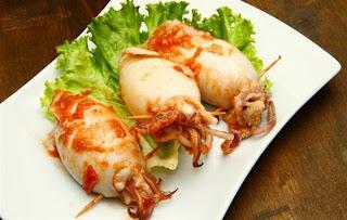 Καλαμάρια Γεμιστά,squid Stuffed.