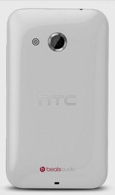 Rear view of HTC Desire 200