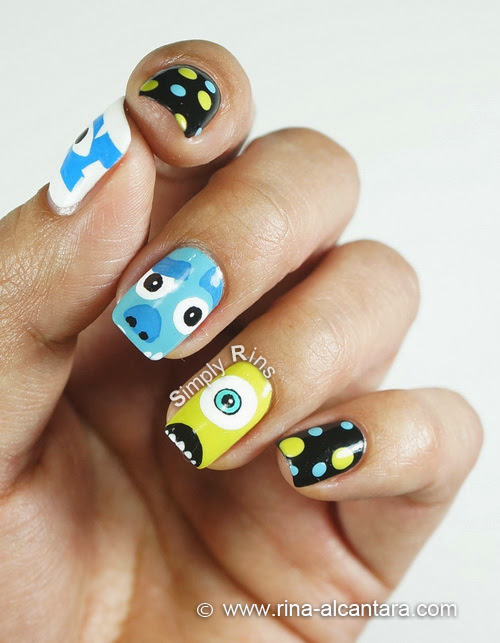 Monsters University Nail Art Design