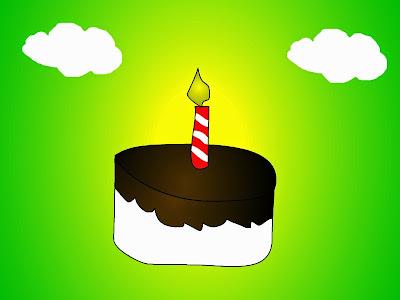 Parče torte sa porukom: Srećan rođendan!